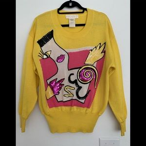 Fabulous vtg ESCADA 80's sweater sequined and wow!